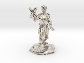Circus Halfling Bard with Starknives in Rhodium Plated Brass