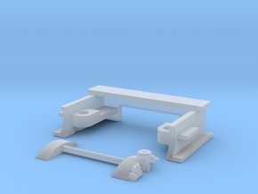 TT scale DSB class F plastic parts (part 2/2) in Smooth Fine Detail Plastic