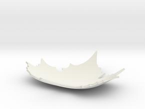 Defoliation ornament plate in White Natural Versatile Plastic: Small