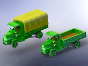 WW I Vintage 5to GS Truck 1/144 in Smooth Fine Detail Plastic