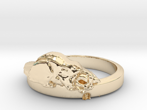 Hermoine and the Mouse - Ring Size 8.25 in 14k Gold Plated Brass