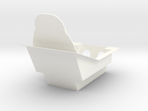A4 SKYHAWK COCKPIT CRADLE FOR A4 SKYMASTER in White Processed Versatile Plastic