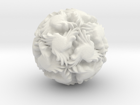 Fractal Spheres - 2 in White Natural Versatile Plastic: Medium