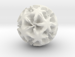 Fractal Spheres - 1 in White Natural Versatile Plastic: Medium