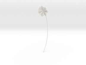 Daisy earring in White Premium Versatile Plastic
