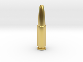 James Bond 007 - Man with the Golden Gun Bullet in Polished Brass