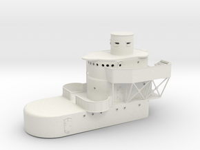 1/96 Superstructure for USS Sims Destroyer in White Natural Versatile Plastic