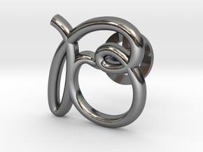 Cursive B Cufflink in Fine Detail Polished Silver