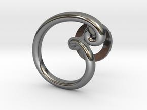 Cursive C Cufflink in Fine Detail Polished Silver