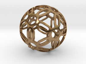 Symmetrical Pattern Sphere in Natural Brass: Medium