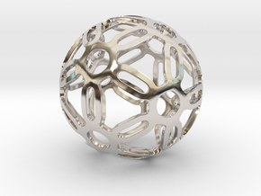Symmetrical Pattern Sphere in Rhodium Plated Brass: Medium