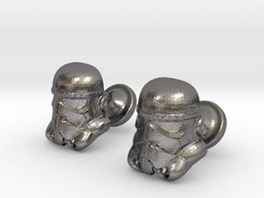 Stormtrooper Cufflinks in Polished Nickel Steel