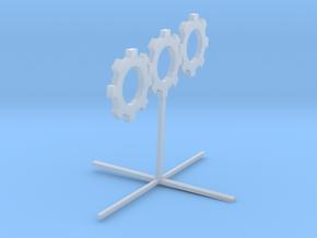 Sprocket_Sculpture 8cm tall in Smooth Fine Detail Plastic