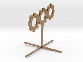 Sprocket_Sculpture 8cm tall in Natural Brass