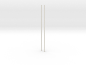 Bar-set-130mm in White Natural Versatile Plastic