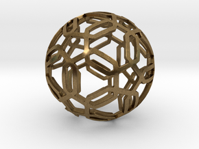 Pentagon Pattern Sphere in Natural Bronze: Medium
