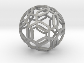 Pentagon Pattern Sphere in Aluminum: Medium