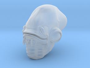 1/6 Admiral Ackbar Head in Smooth Fine Detail Plastic
