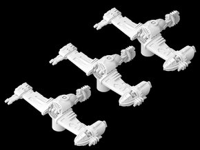 3x V-4X-D Ski Speeder (1/270) in White Natural Versatile Plastic