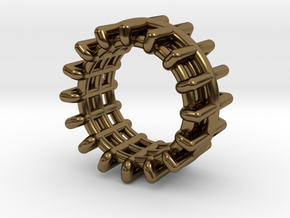 WIREFRAME in Polished Bronze: 8 / 56.75
