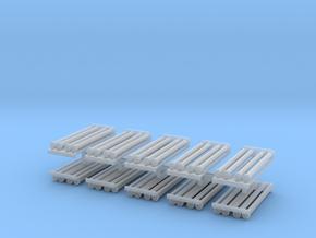 Saugschlauchsatz A2,5m mit Rost 10erSet - 1:120 TT in Smooth Fine Detail Plastic