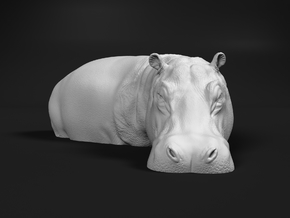 Hippopotamus 1:120 Standing in Water in Smooth Fine Detail Plastic
