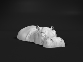 Hippopotamus 1:6 Lying in Water 2 in White Natural Versatile Plastic