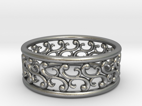 "Bracelet ""Rotate"" in Natural Silver: Small"