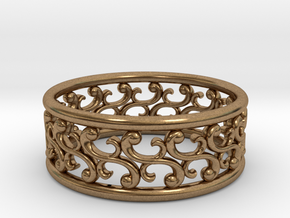 """Bracelet """"Rotate"""" in Natural Brass: Small"""