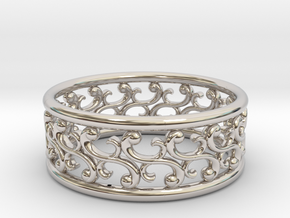 """Bracelet """"Rotate"""" in Rhodium Plated Brass: Small"""