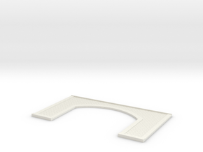 Brick Railway Arch (Open) in White Natural Versatile Plastic