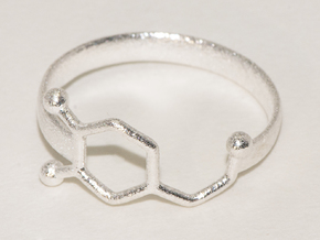 Dopamine ring:  size 7.5 in Natural Silver