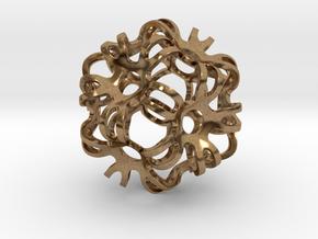 Outward Deformed Symmetrical Sphere in Natural Brass