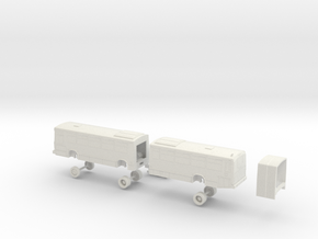 HO Scale Bus Neoplan AN460 Muni 6200s, 6400s in White Natural Versatile Plastic