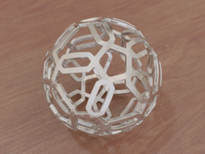 Pentagon Pattern Sphere in White Strong & Flexible: Medium
