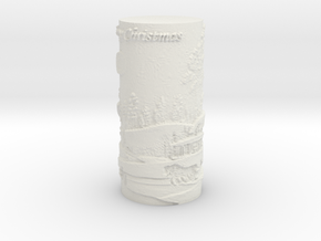 MERRY_CHRISTMAS_LAMP_SHADE in White Natural Versatile Plastic