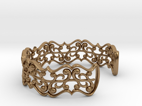 "Bracelet ""fluent"" in Natural Brass: Small"