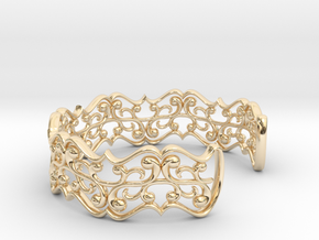 "Bracelet ""fluent"" in 14k Gold Plated Brass: Small"