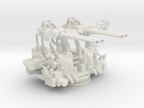 1/30 USN 40mm Quad Bofors KIT in White Natural Versatile Plastic