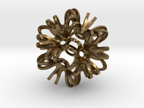 Outward Deformed Symmetrical Sphere Version 2 in Natural Bronze: Medium
