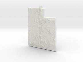 Utah Christmas Ornament in White Natural Versatile Plastic