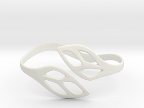 FLOS Bracelet. Smooth Elegance. in White Natural Versatile Plastic: Extra Small