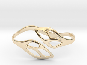 FLOS Bracelet. Smooth Elegance. in 14k Gold Plated Brass: Extra Small