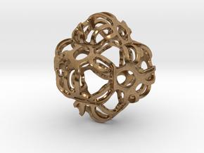 Symmetrically Deformed Cuboid in Natural Brass: Medium