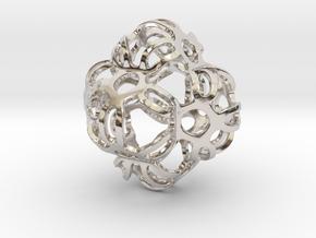 Symmetrically Deformed Cuboid in Rhodium Plated Brass: Medium