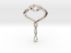 Entangled in Rhodium Plated Brass