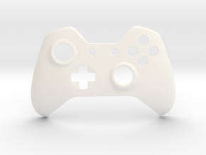 Xbox One Faceplate in White Processed Versatile Plastic