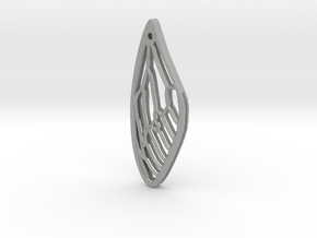 Cicada Wing Pendant - Outside in Aluminum