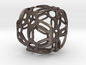 Symmetric Cuboid Structure 1 in Polished Bronzed Silver Steel