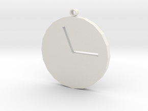 TIME in White Natural Versatile Plastic
